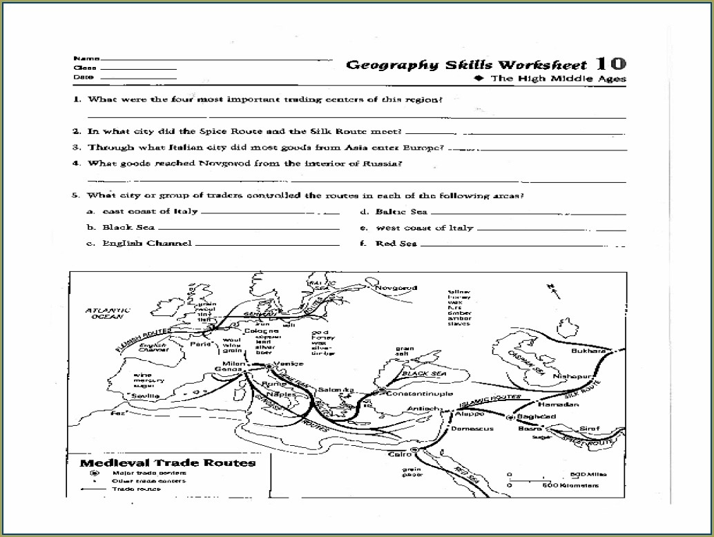 Free Printable Geography Map Skills Worksheets Pdf