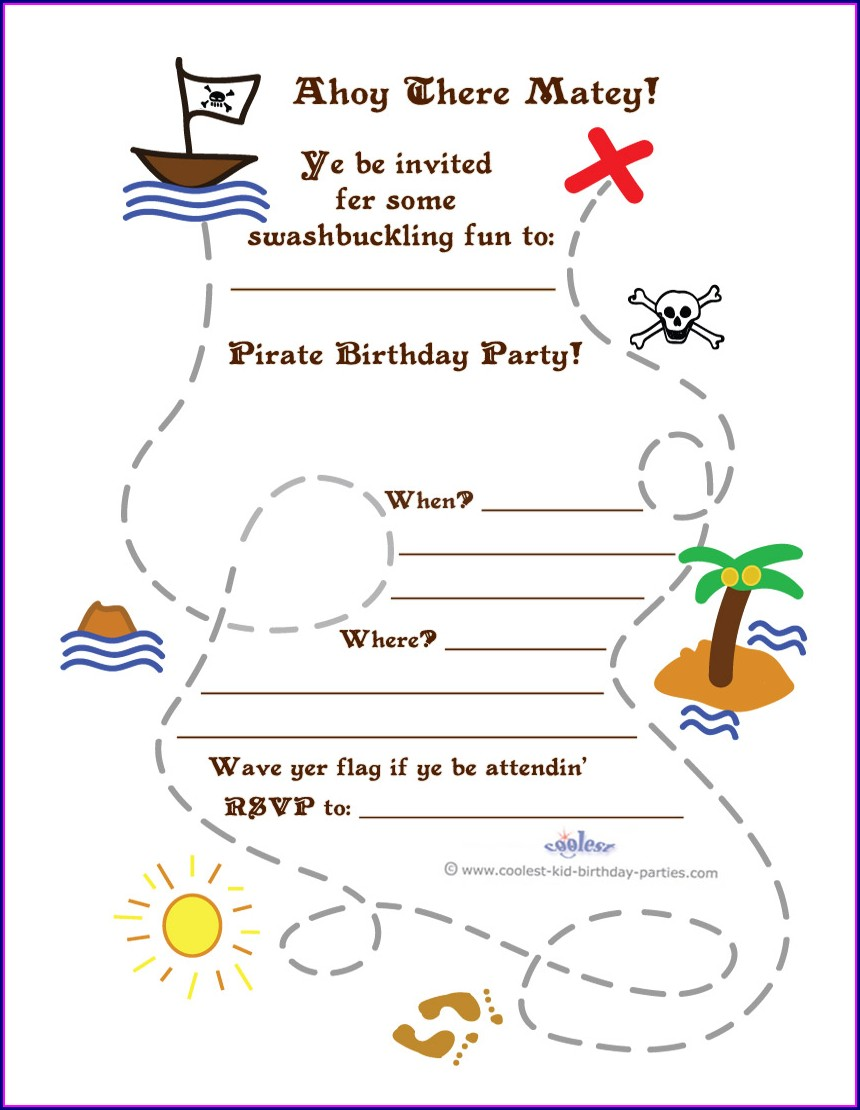 Free Printable Pirate Map Template