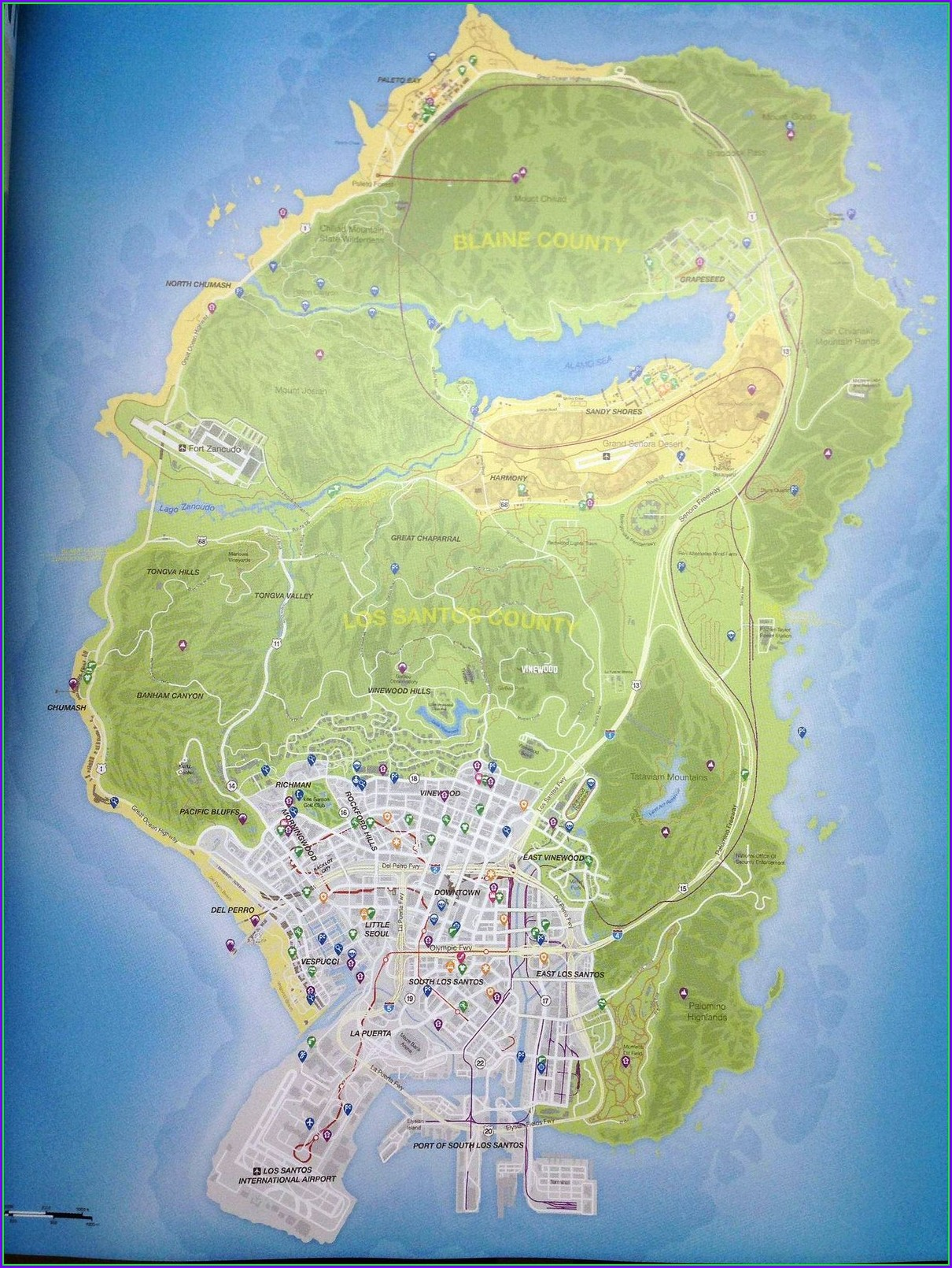 Full Gta 5 Map With Street Names
