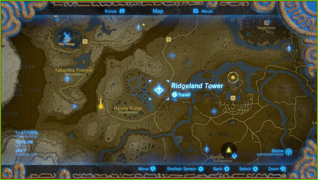 Full Map Botw Tower Locations