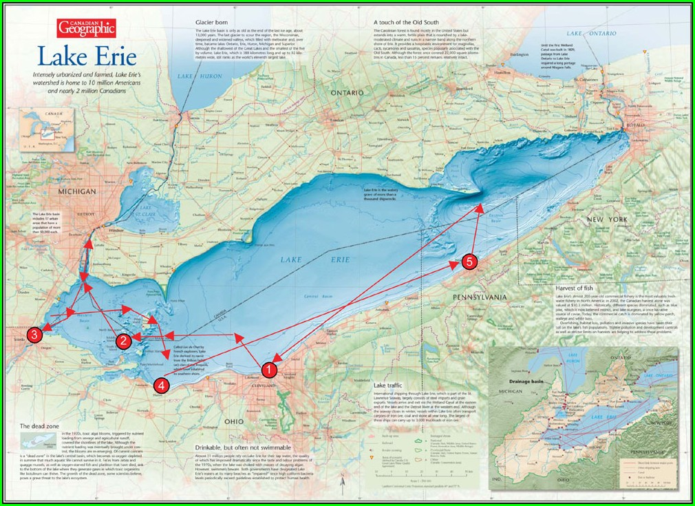 G Can Lake Erie Map