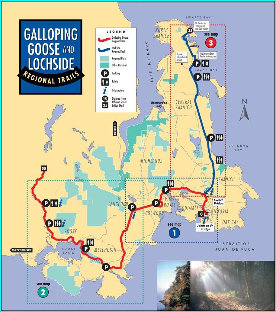 Galloping Goose Bike Trail Map