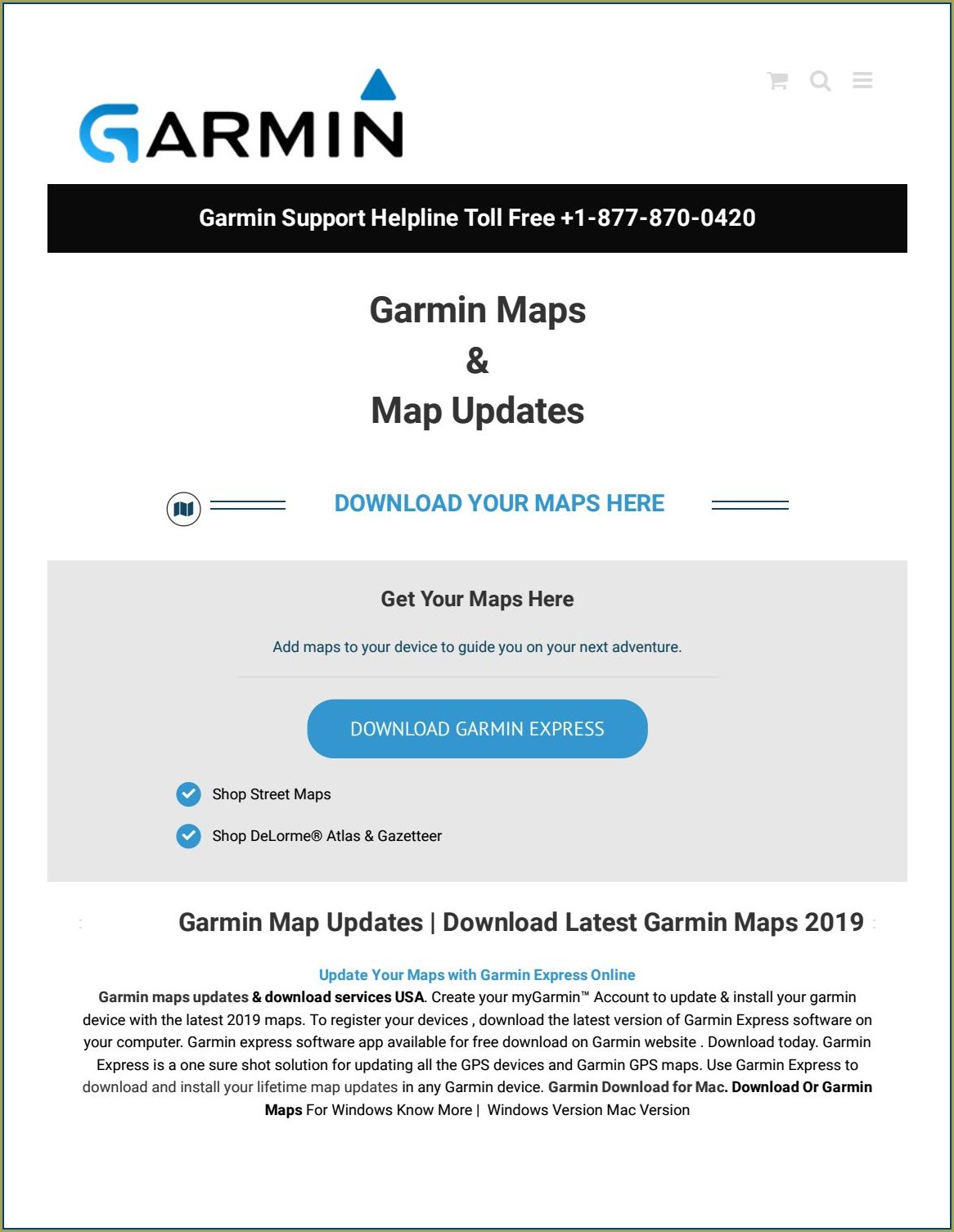 Garmin Map Updater Download