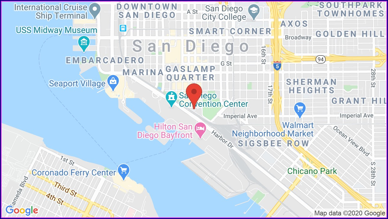 Gaslamp San Diego Map