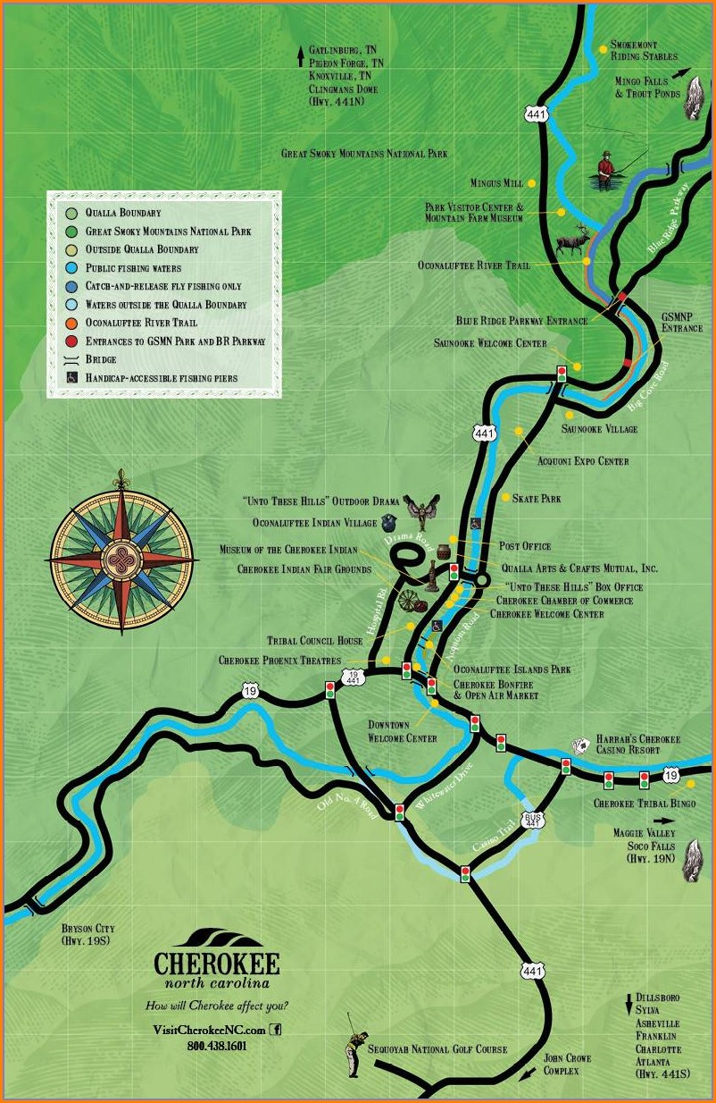 Gatlinburg Trout Fishing Map