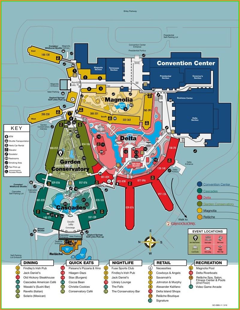 Gaylord Opryland Resort Map Pdf