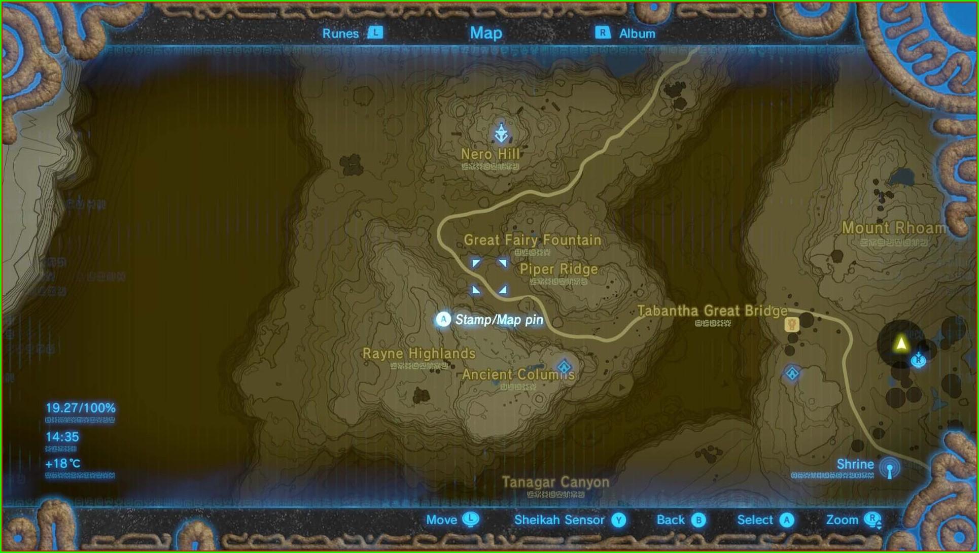 Gerudo Desert Botw Fairy Fountain Locations Map