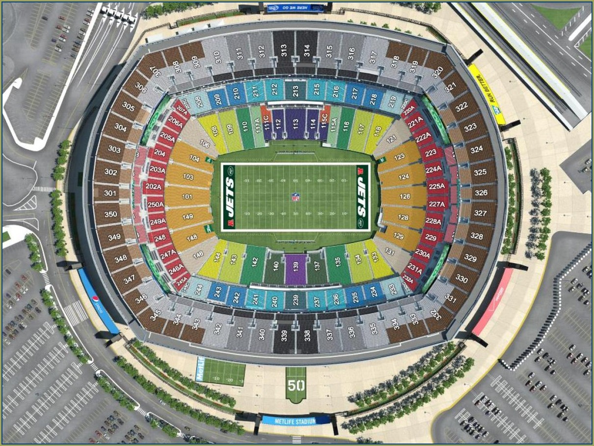 Giants Stadium Seating Map