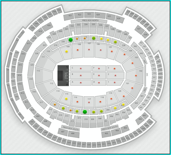 Gillette Concert Seating Map