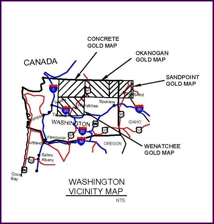 Gold Panning In Washington Map