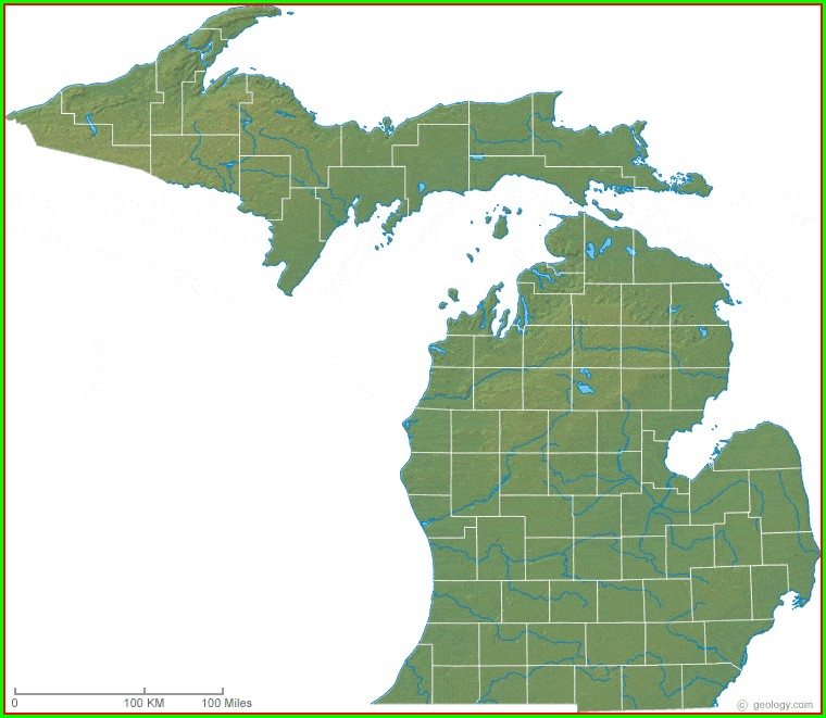 Google Earth Satellite Map Of Michigan