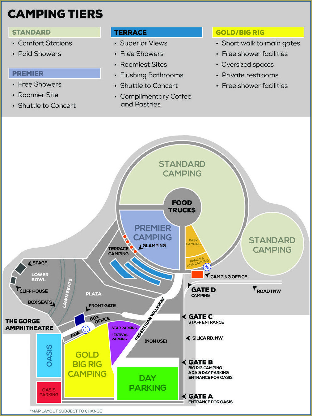 Gorge Amphitheater Camping Map