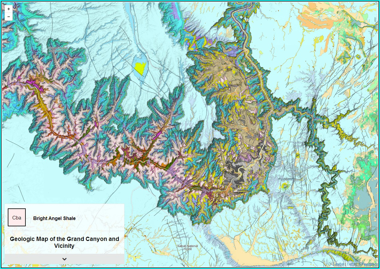 Grand Canyon Geologic Map