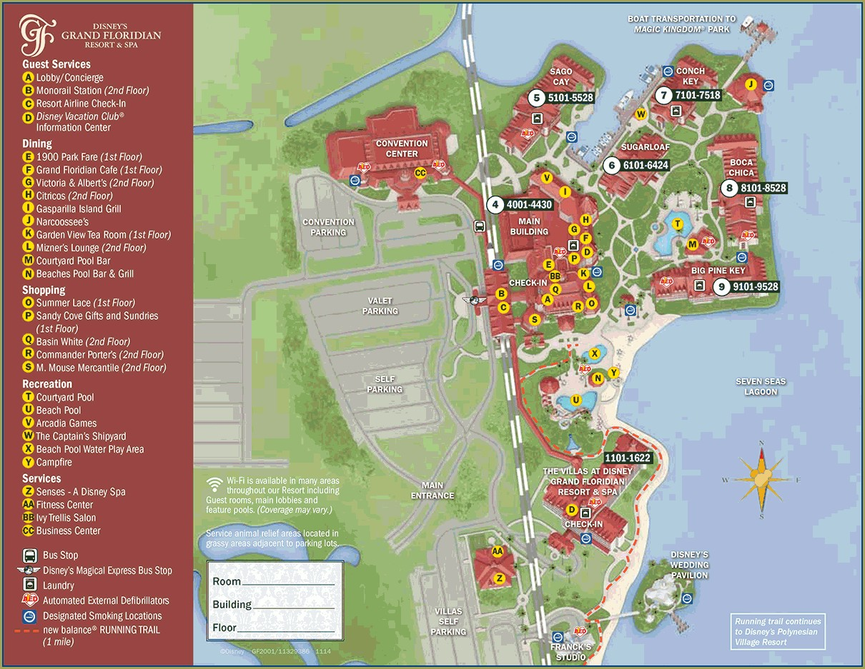 Grand Floridian Resort Map