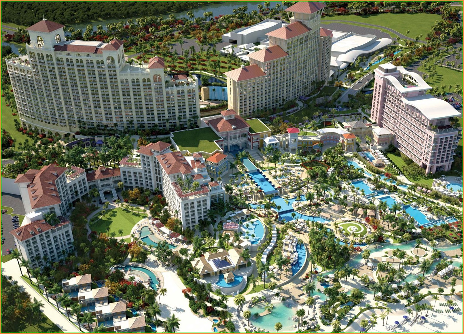 Grand Hyatt Baha Mar Resort Map