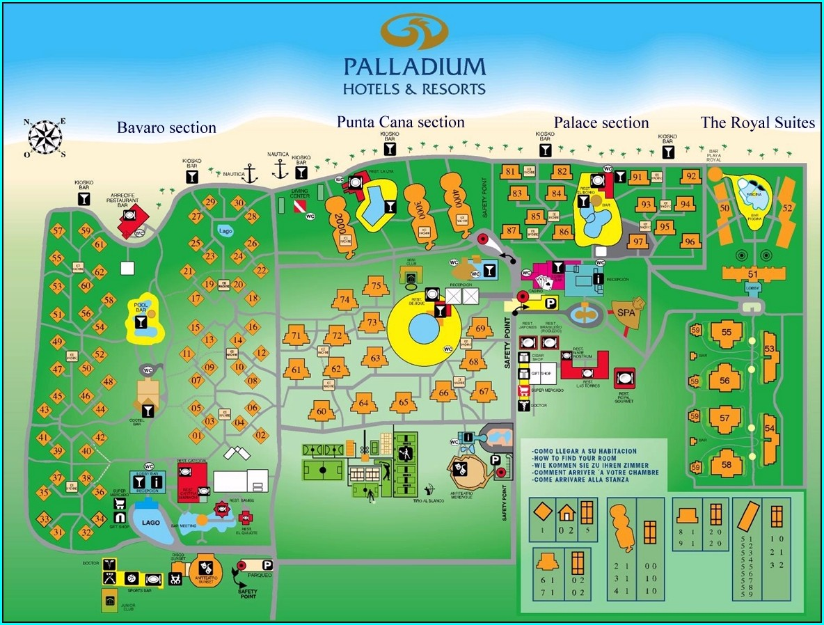 Grand Palladium Palace Resort Map