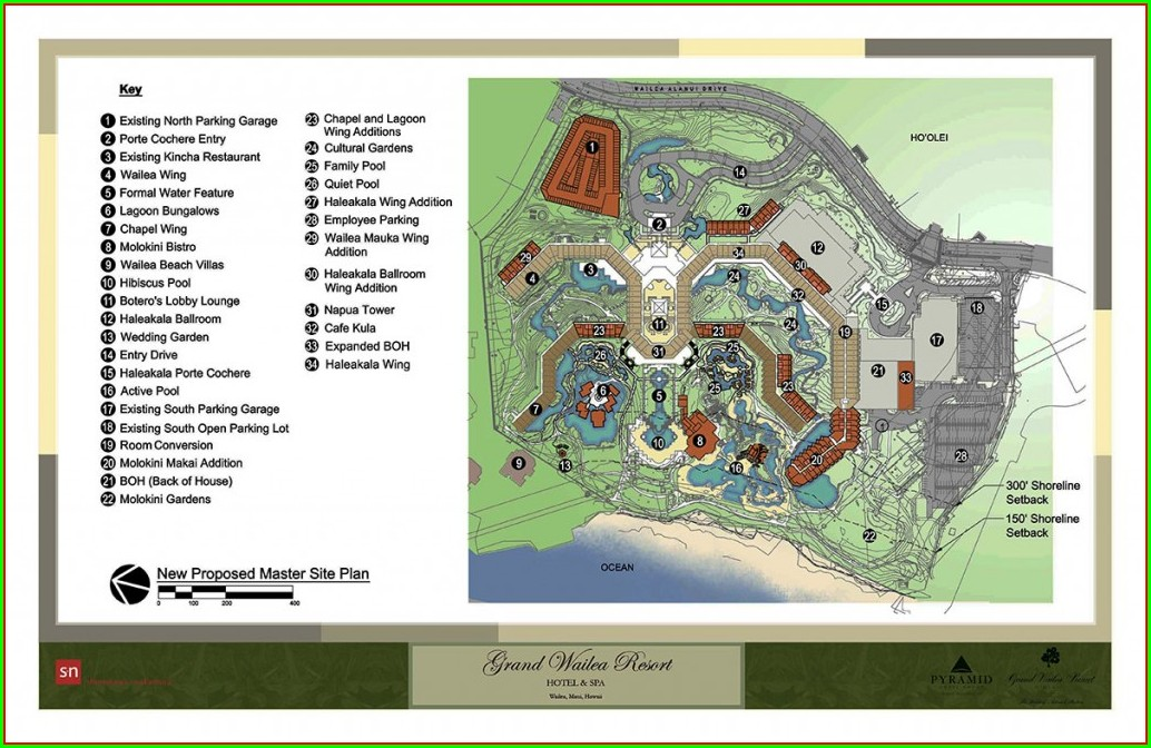 Grand Wailea Map Of Property