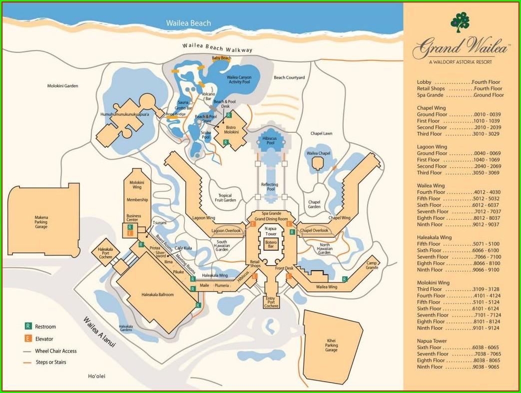 Grand Wailea Room Map