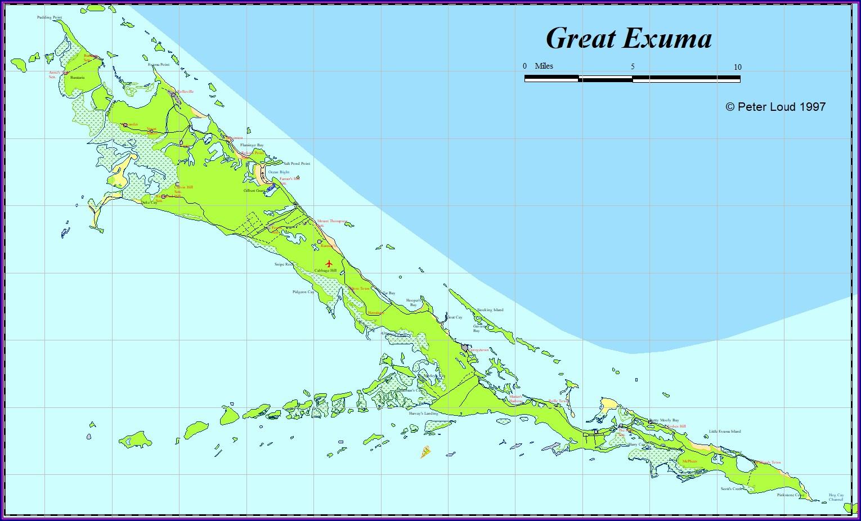 Great Exuma Exuma Bahamas Map
