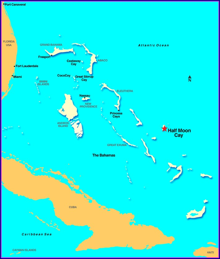 Great Exuma Map Of Islands