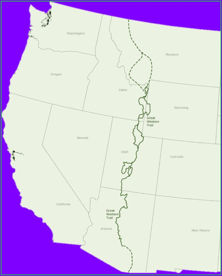 Great Western Trail Arizona Map