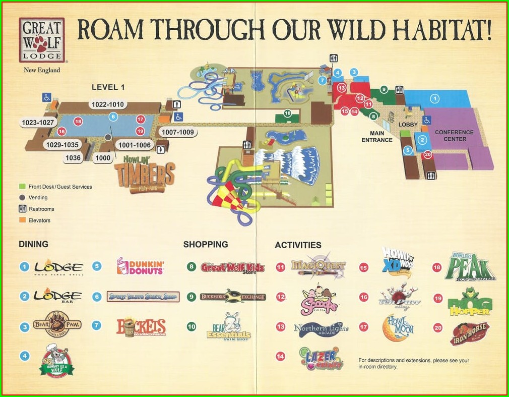 Great Wolf Lodge Wisconsin Dells Map