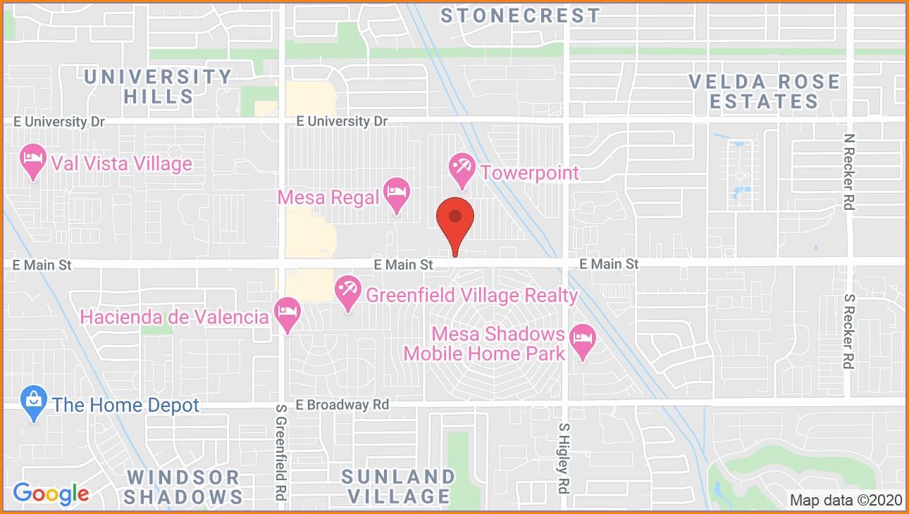 Greenfield Village Mesa Az Map