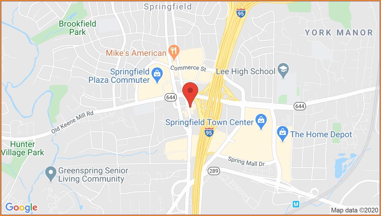 Greenspring Springfield Va Map