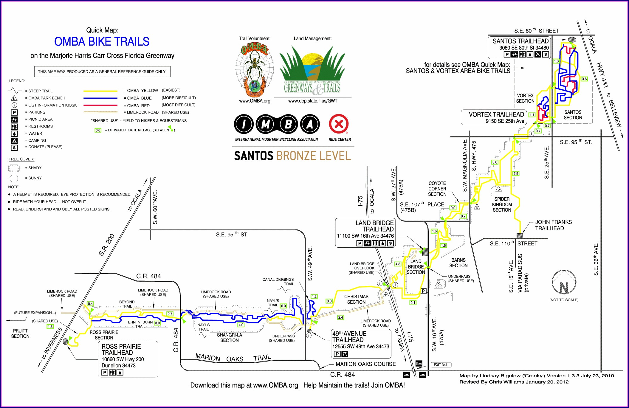 Greenway Bike Trail Map