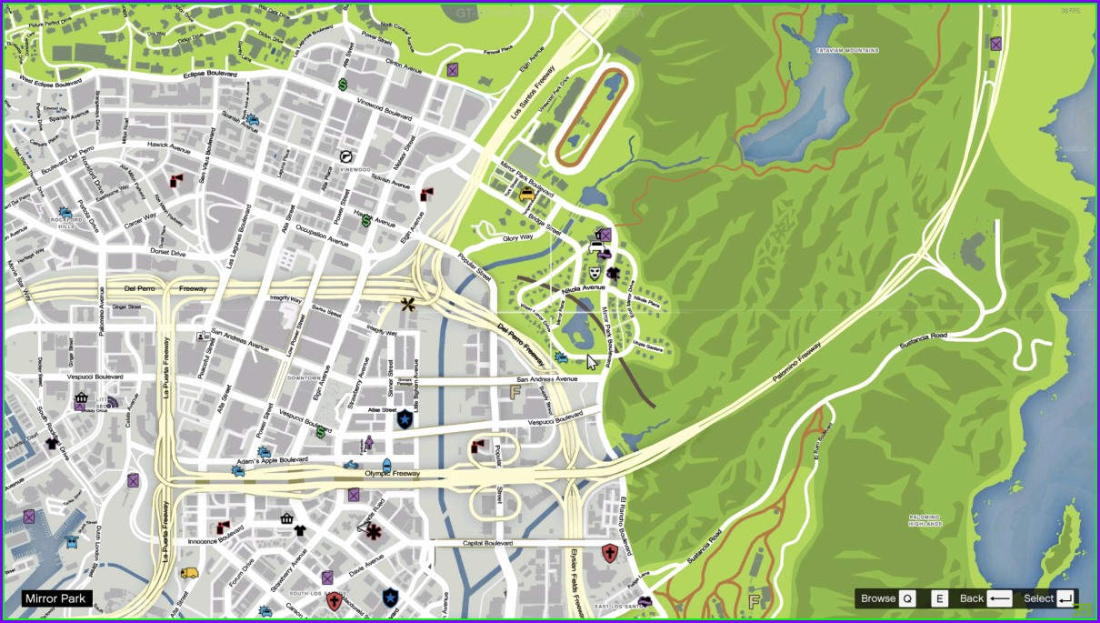 Gta 5 Map With Street Names Mod
