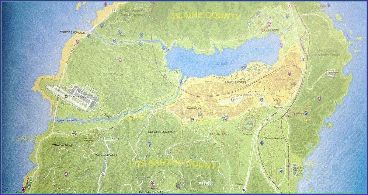 Gta 5 Map With Street Names Pdf