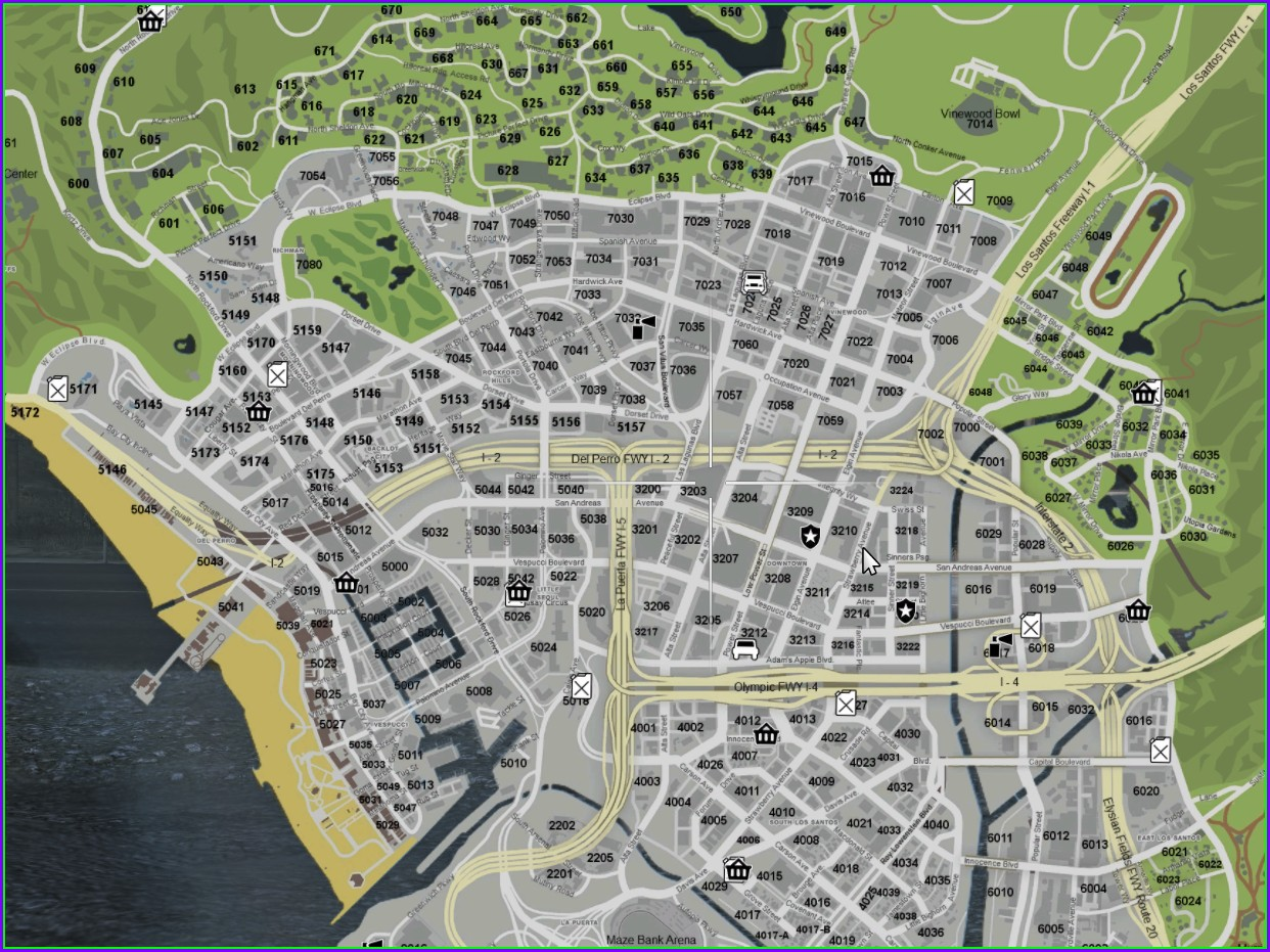 Gta 5 Map With Street Names