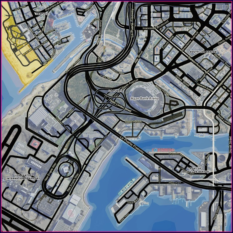 Gta V Map With Street Names