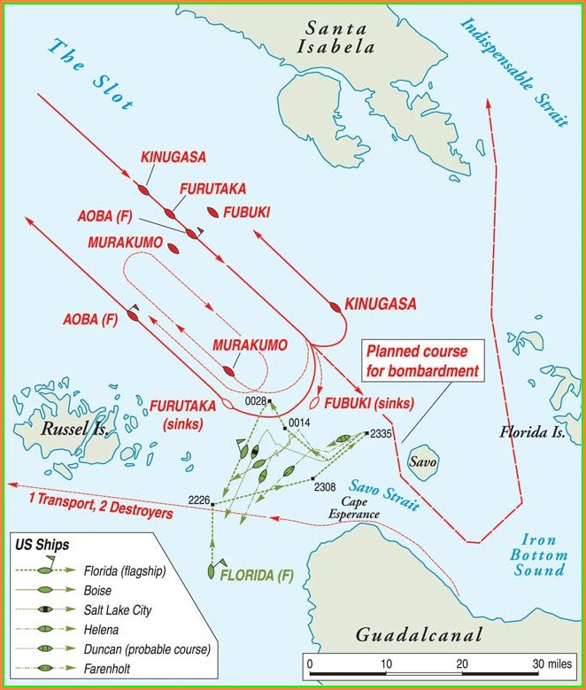 Guadalcanal Campaign Battle Of Guadalcanal Map