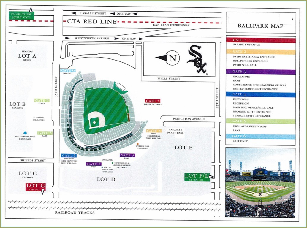 Guaranteed Rate Field Parking Lot Map