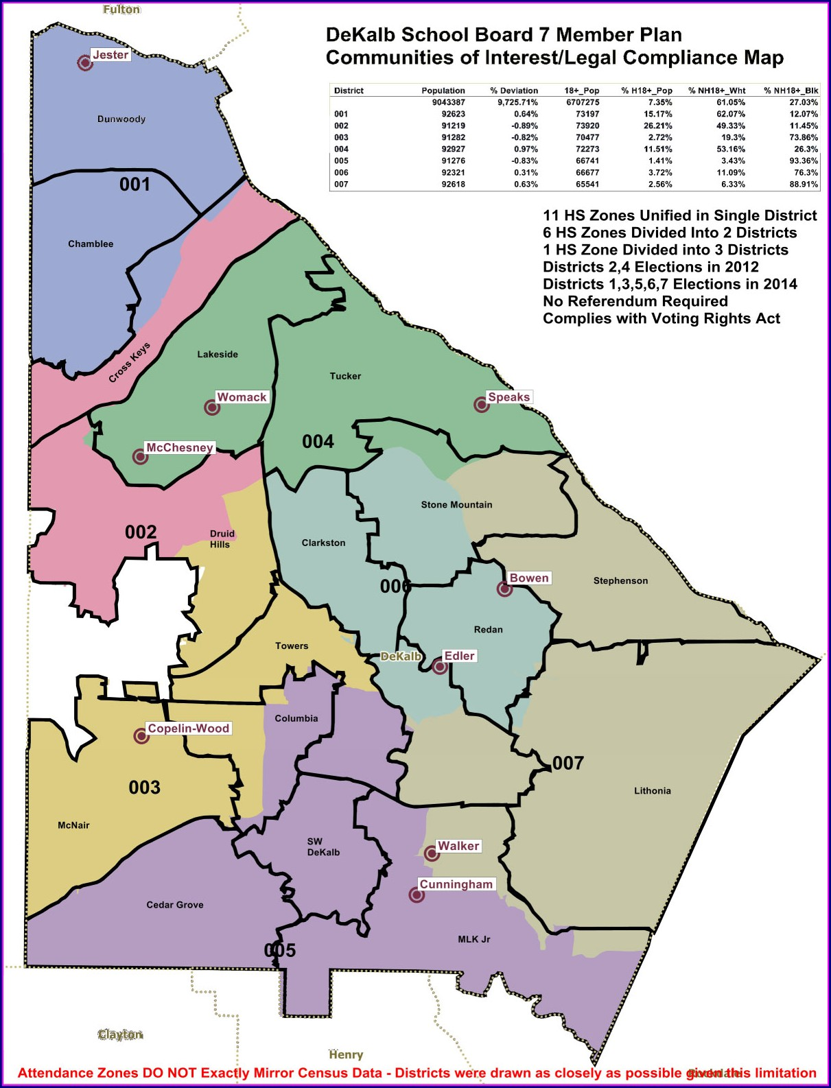 Gwinnett County High School District Map