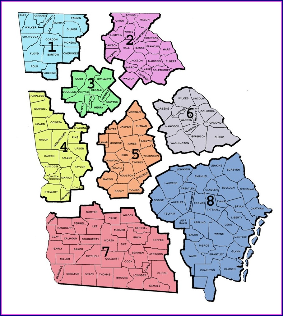 Gwinnett County School Board District Map