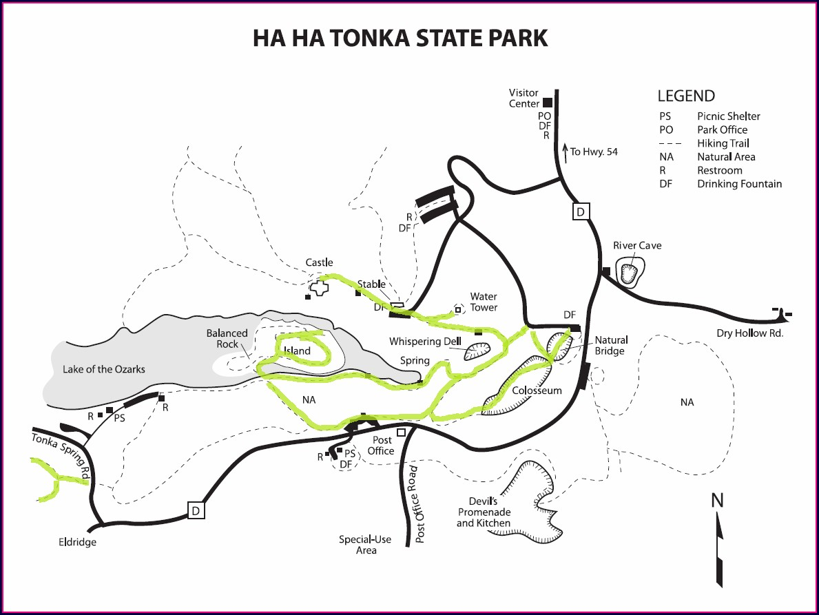 Ha Ha Tonka State Park Map