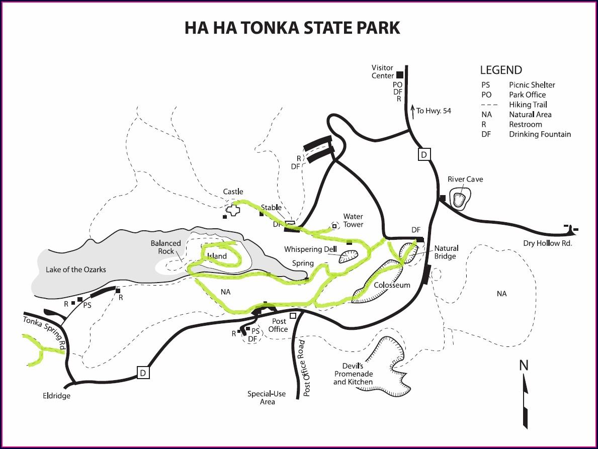 Ha Ha Tonka State Park Map