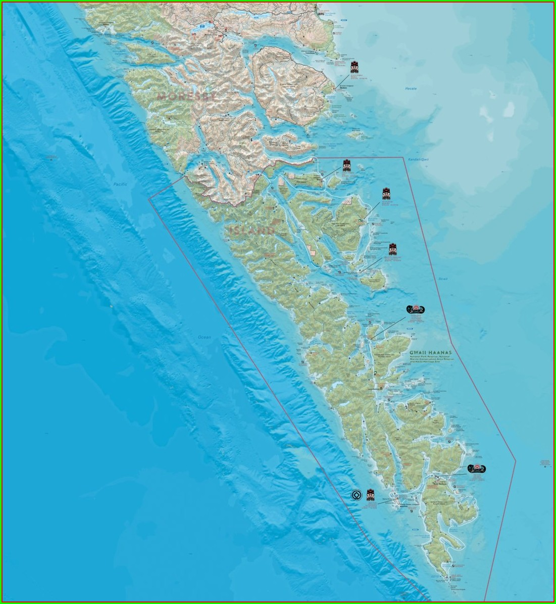 Haida Gwaii Map Bc