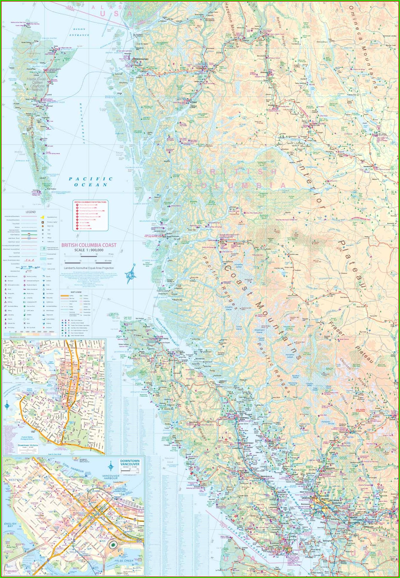 Haida Gwaii Road Map
