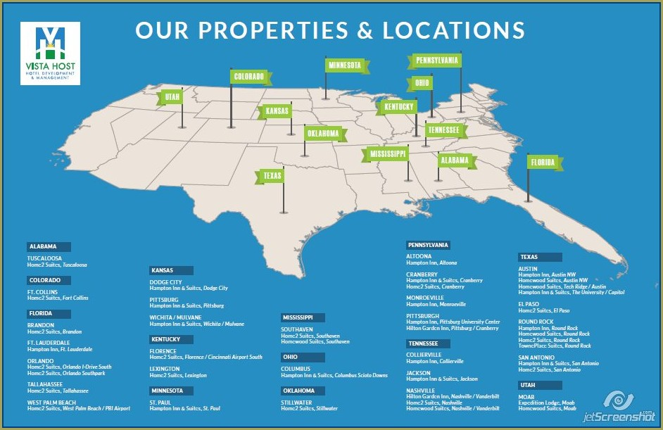 Hampton Inn Locations Map