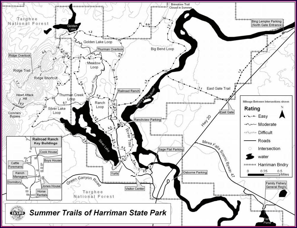 Harriman Trail Map Idaho