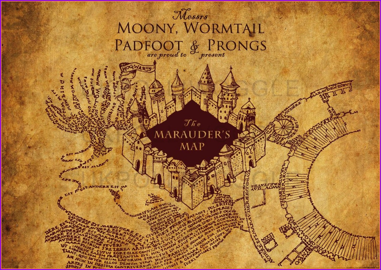 Harry Potter Marauders Map Wallpaper