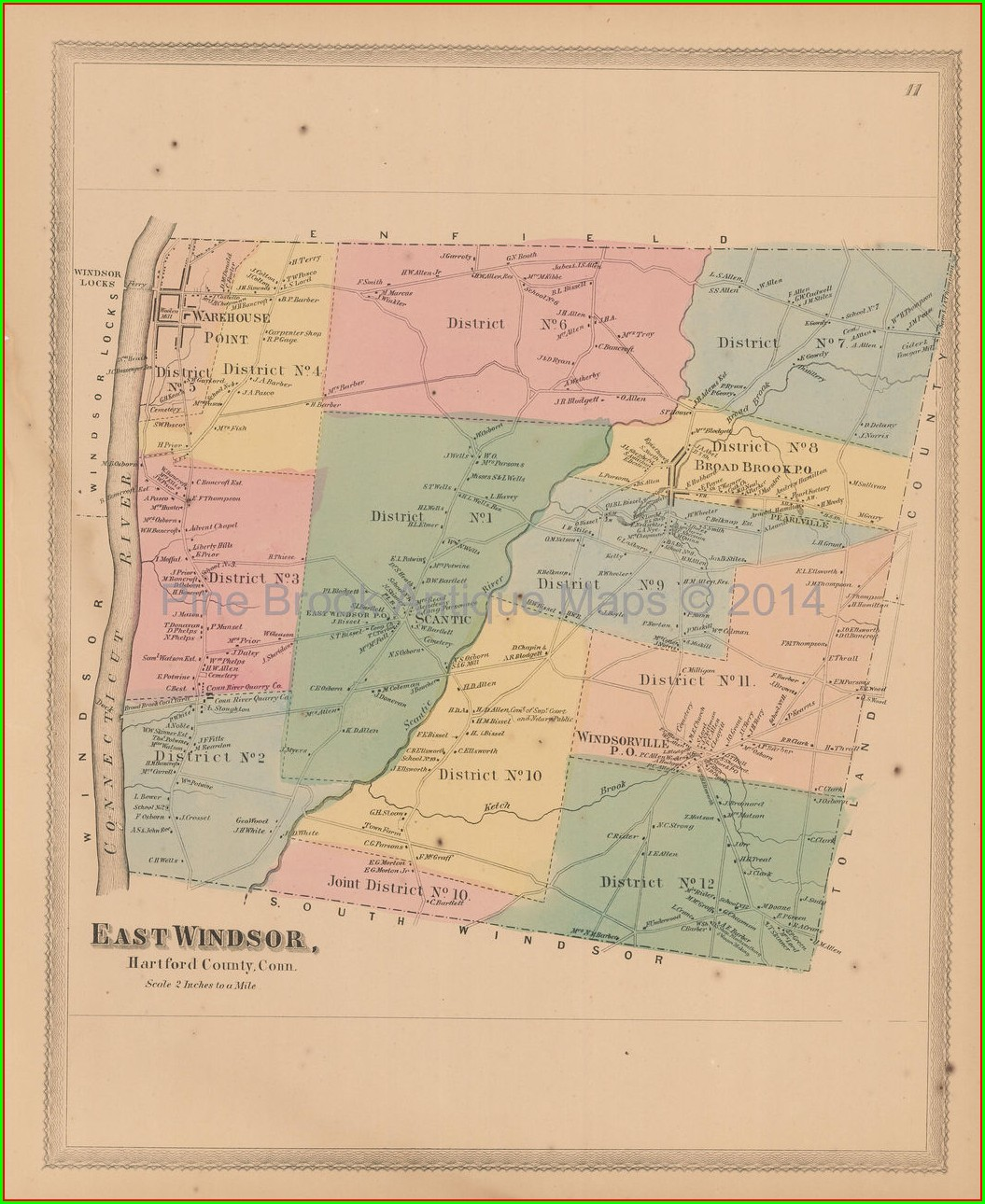 Hartford County Town Map