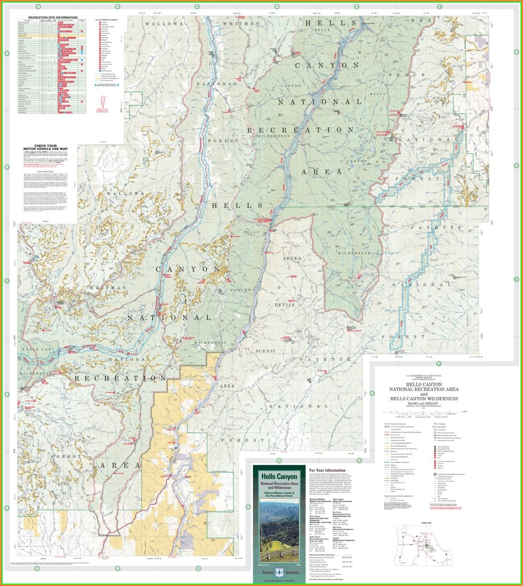 Hells Canyon Trail Map