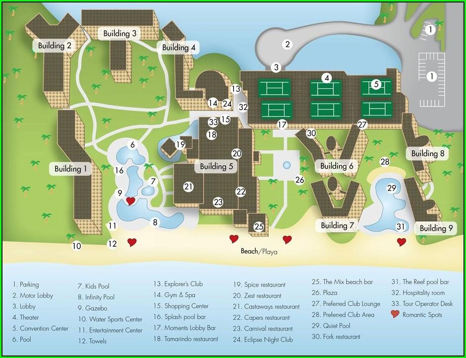 Hideaway At Royalton Riviera Cancun Resort Map