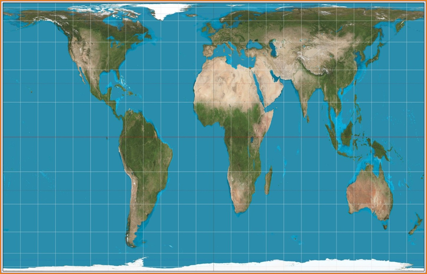 High Quality Full Size Authagraph World Map
