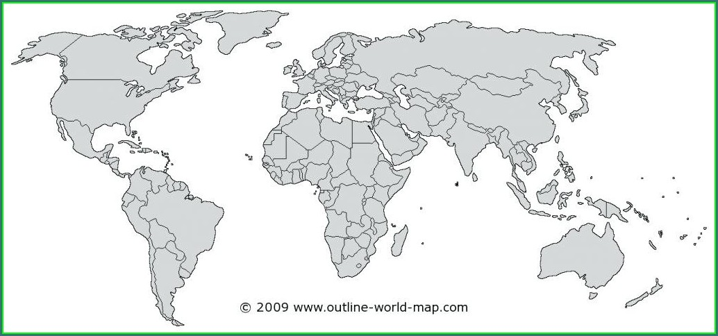 High Quality Vector World Map Outline