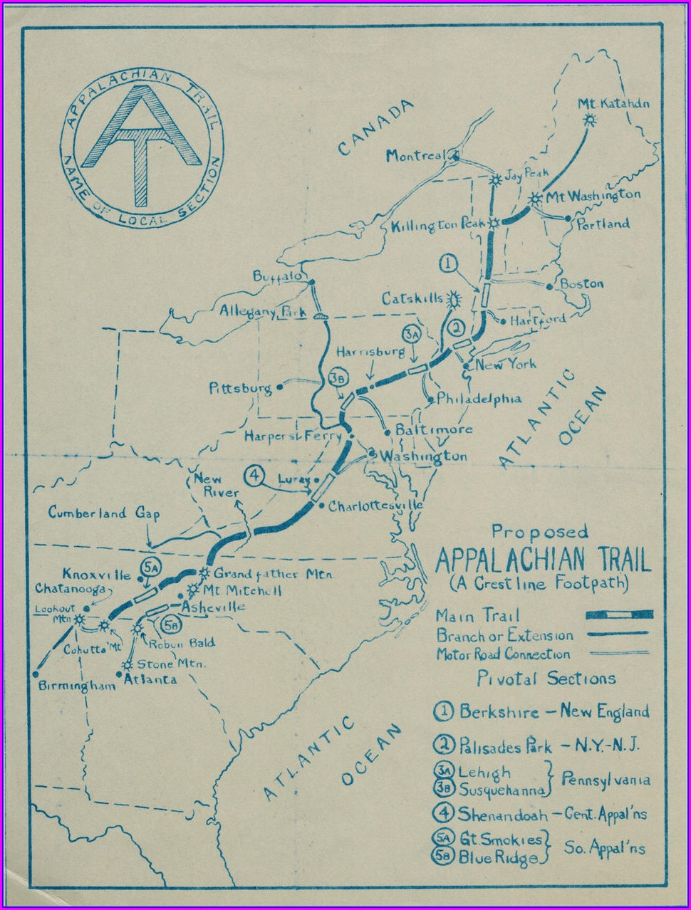 High Resolution Appalachian Trail Tennessee Map